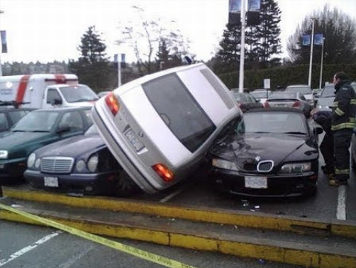 Ошибки при парковке